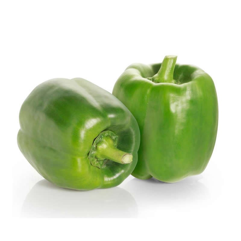 Organic green pepper 1 Kg.